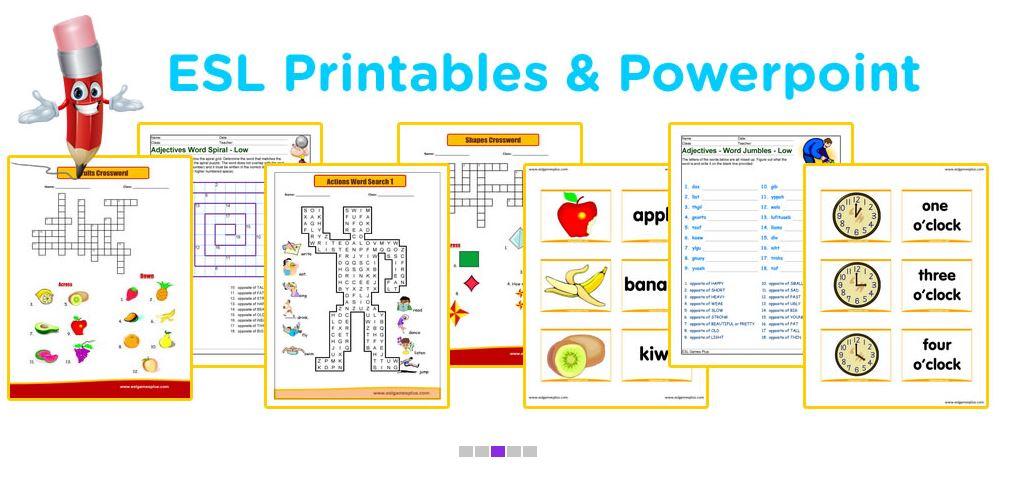 free online esl games for preschoolers